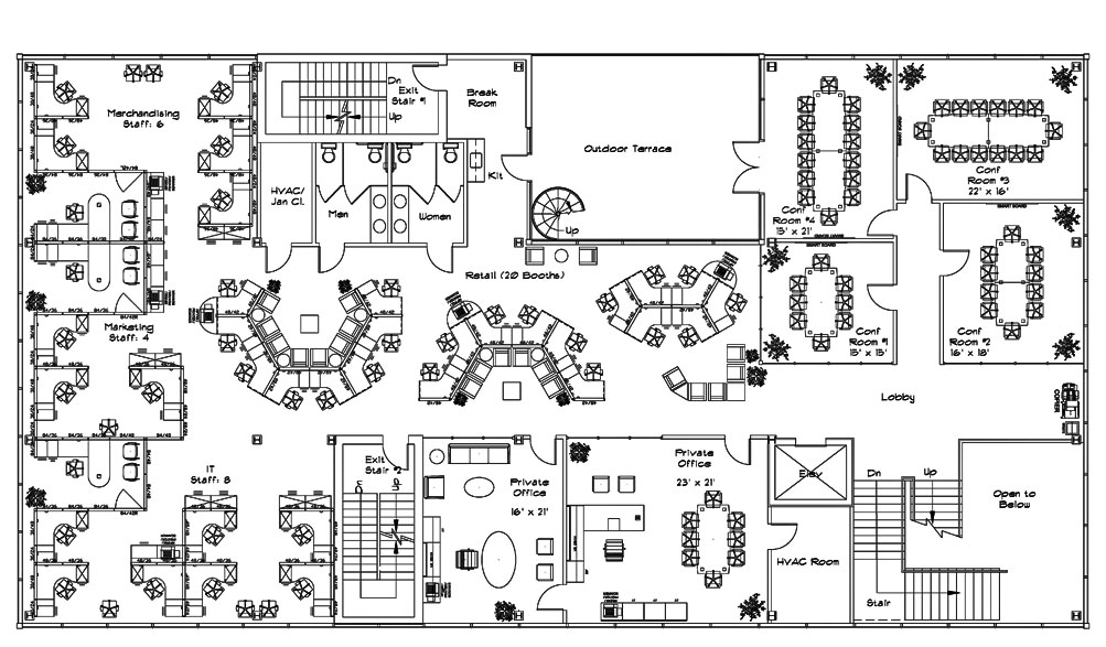 Valentine one office space planning for Office room plan