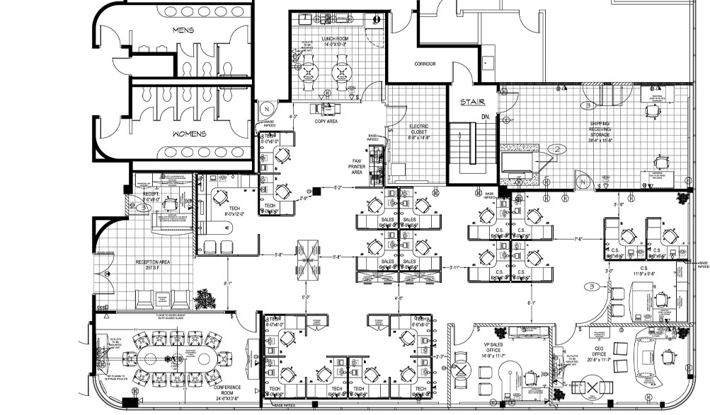 Valentine One Office Space Planning